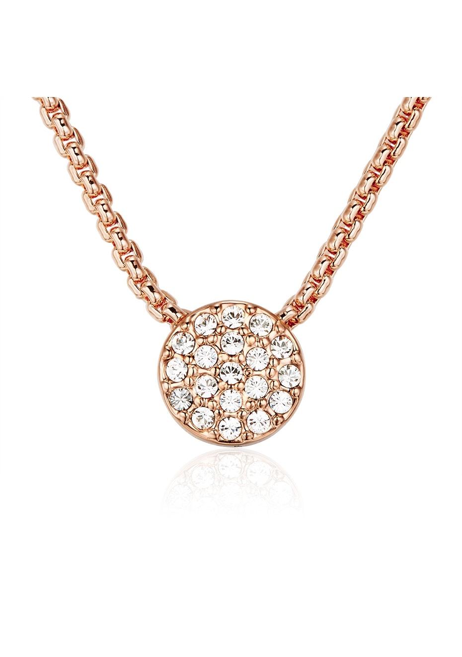 Slider Series Pendant Necklace Ft Swarovski Crystals -Rose Gold