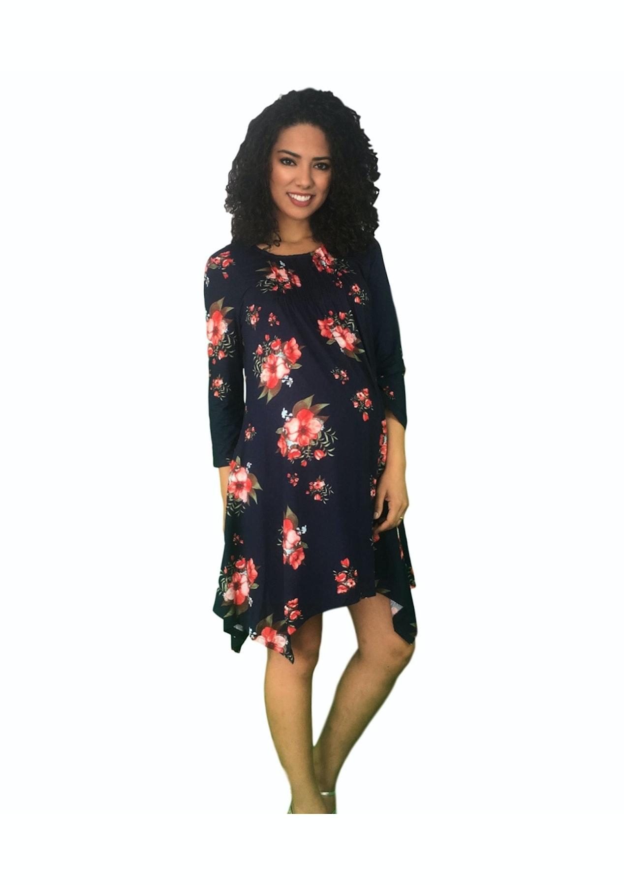 bc31bbc0dde4d Maternity Clothes Online - Floral Print Maternity Dress
