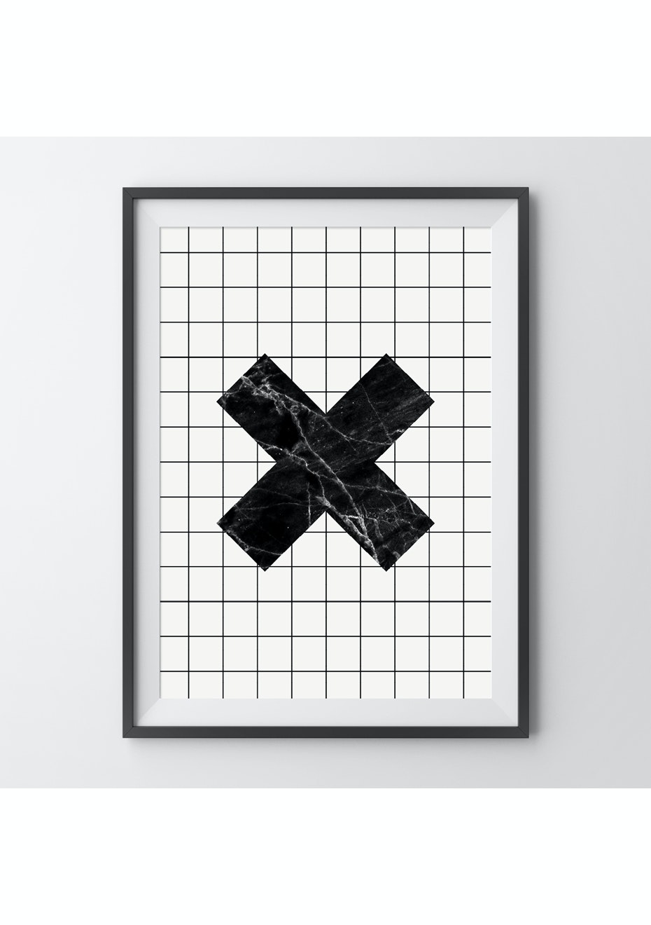 Simply Creative - Grid Cross - A4 Monochrome Print