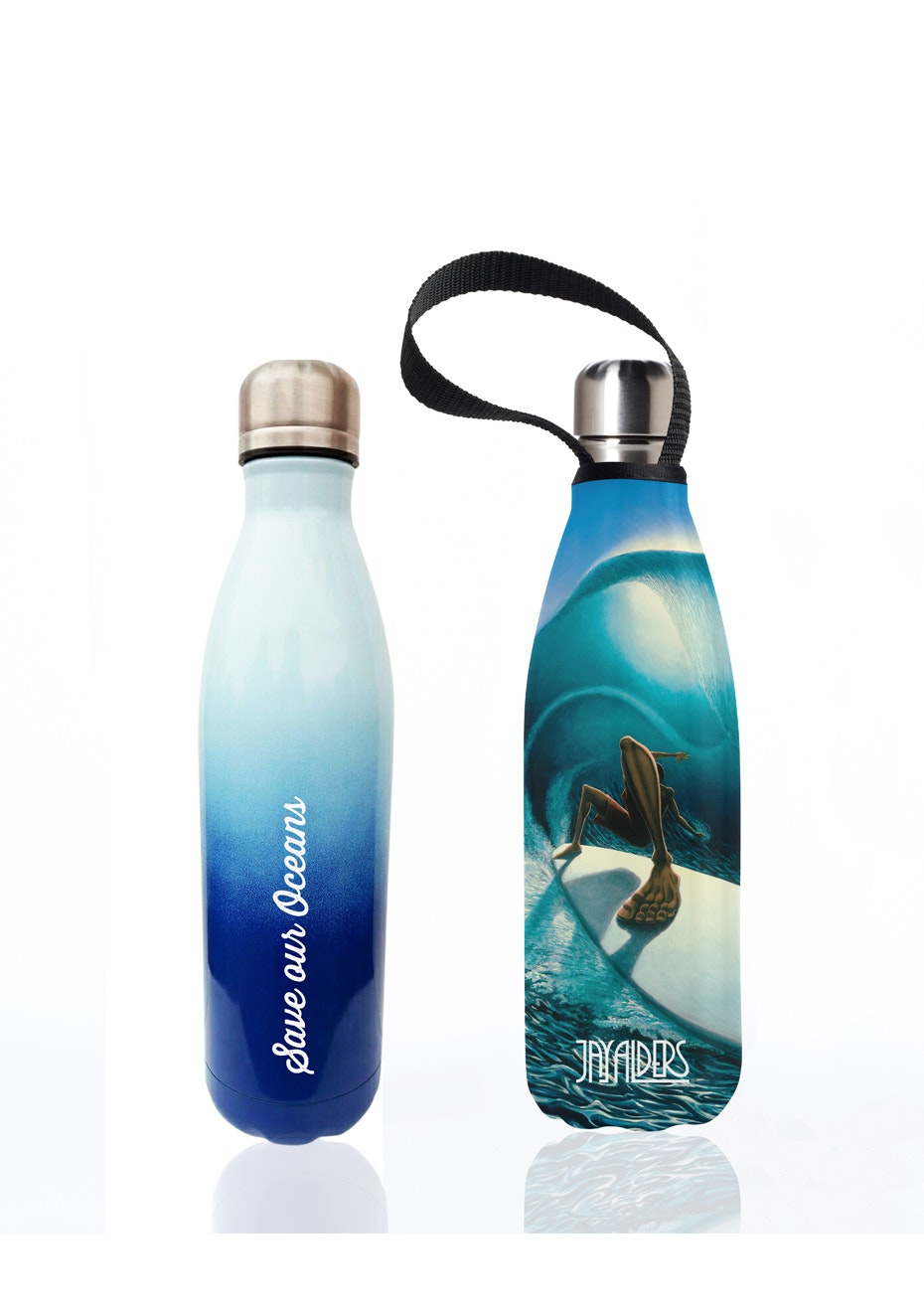 BBBYO - Future Bottle+ Carry Cover (Right past the light Print)- 750 ml Trans Blue