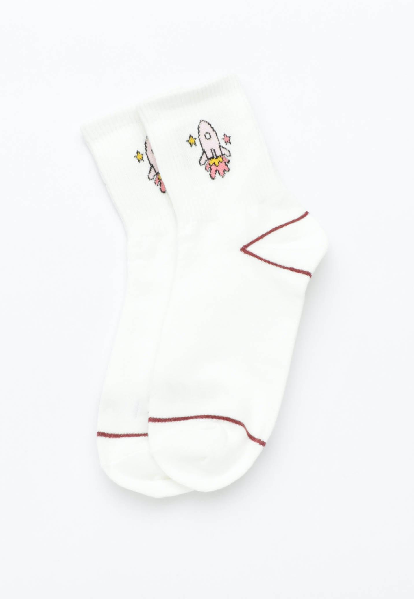 Rocket Socks - White