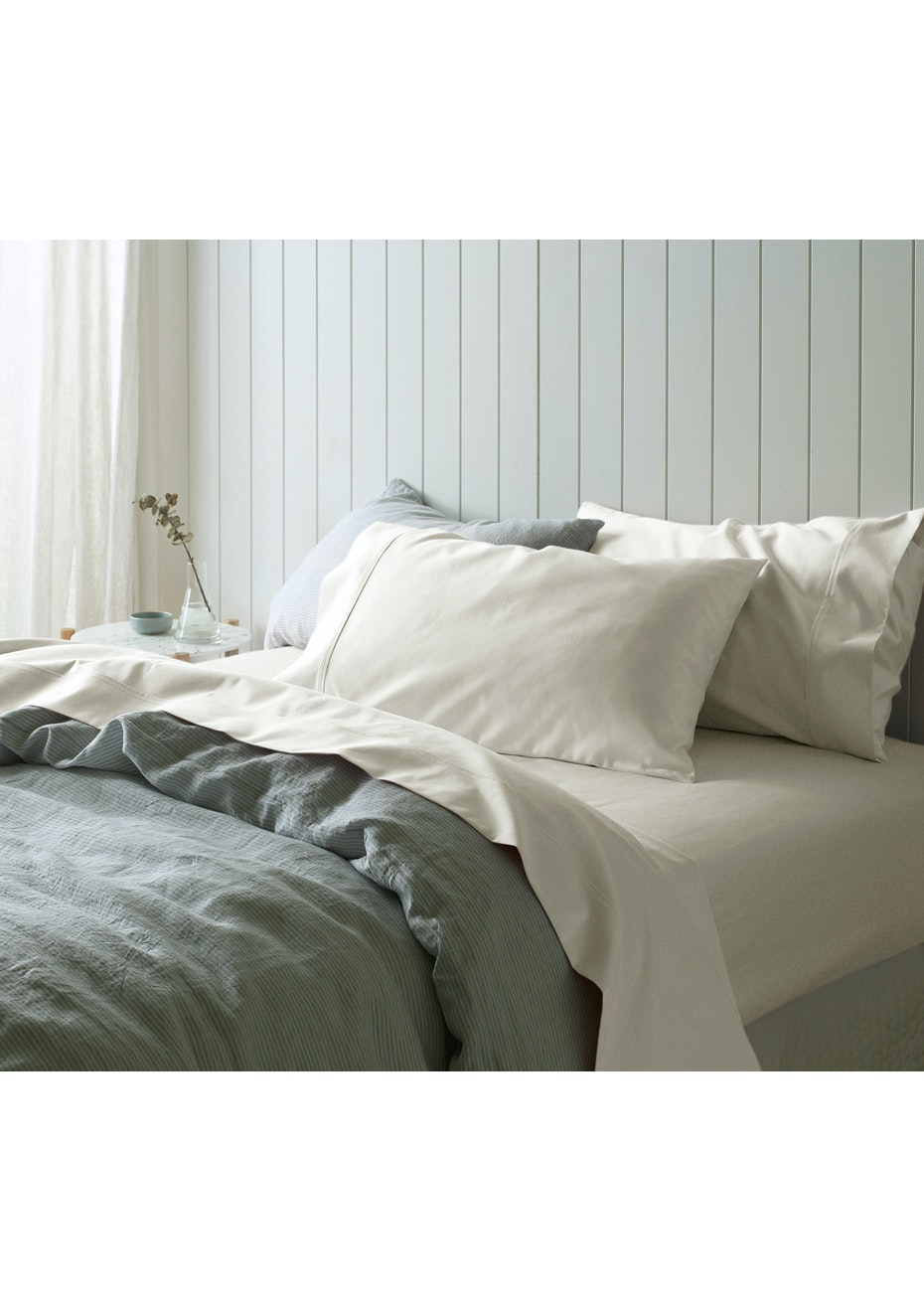Accessorize   Accessorize Cream 1000TC Cotton Sateen Sheet Sets   King Bed    Cream   Affordable Bedroom Makeover   Onceit