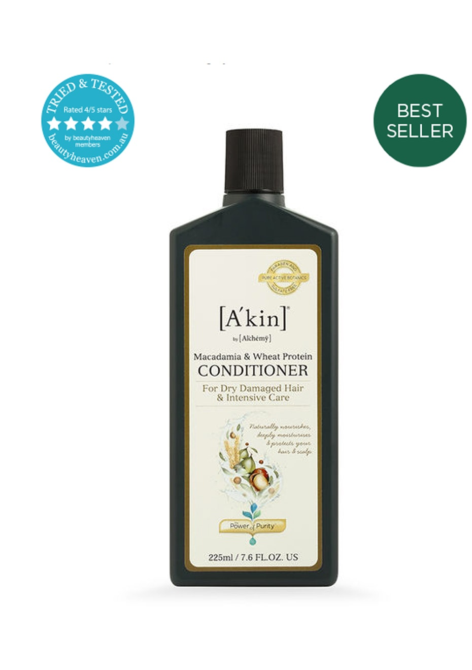 A'kin  - Macadamia & Wheat Protein Conditioner 225ml