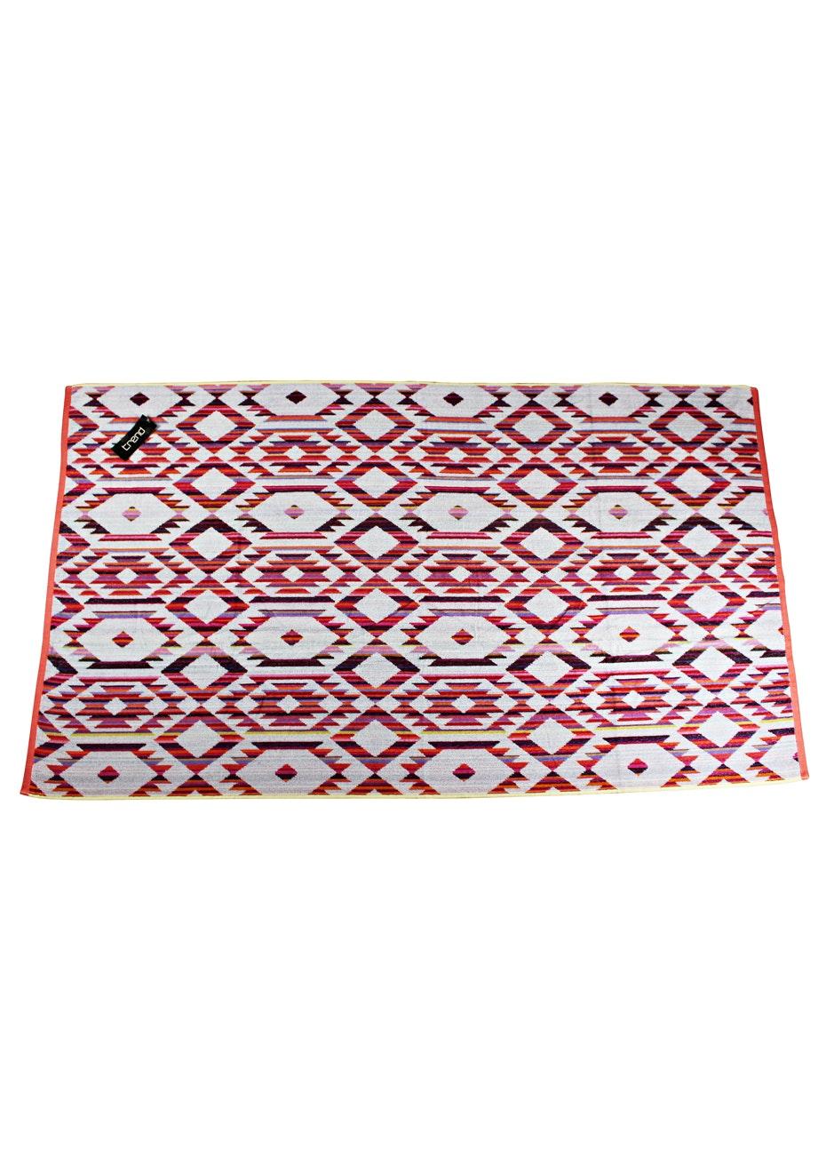 Kuta 100% Cotton Velour Jacquard Beach Towel - 100x180cm