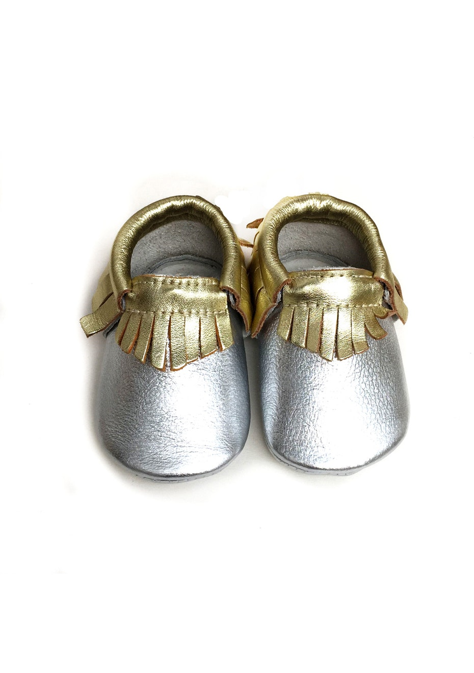 Baby  Leather Shoes - Silver / Gold