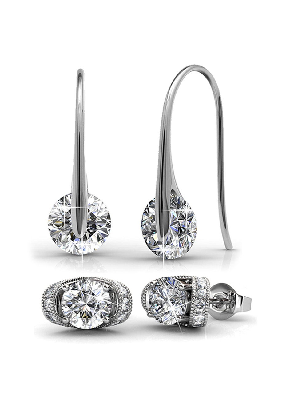 2pc Earring Set Embellished with Crystals from Swarovski