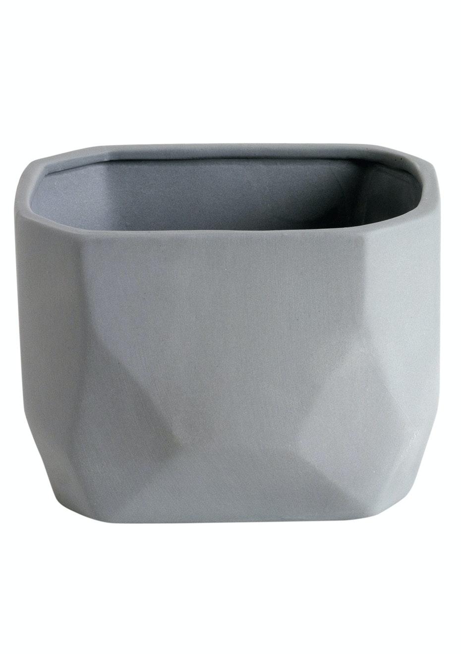 Jason - Ceramic Geormetric Vase - Grey