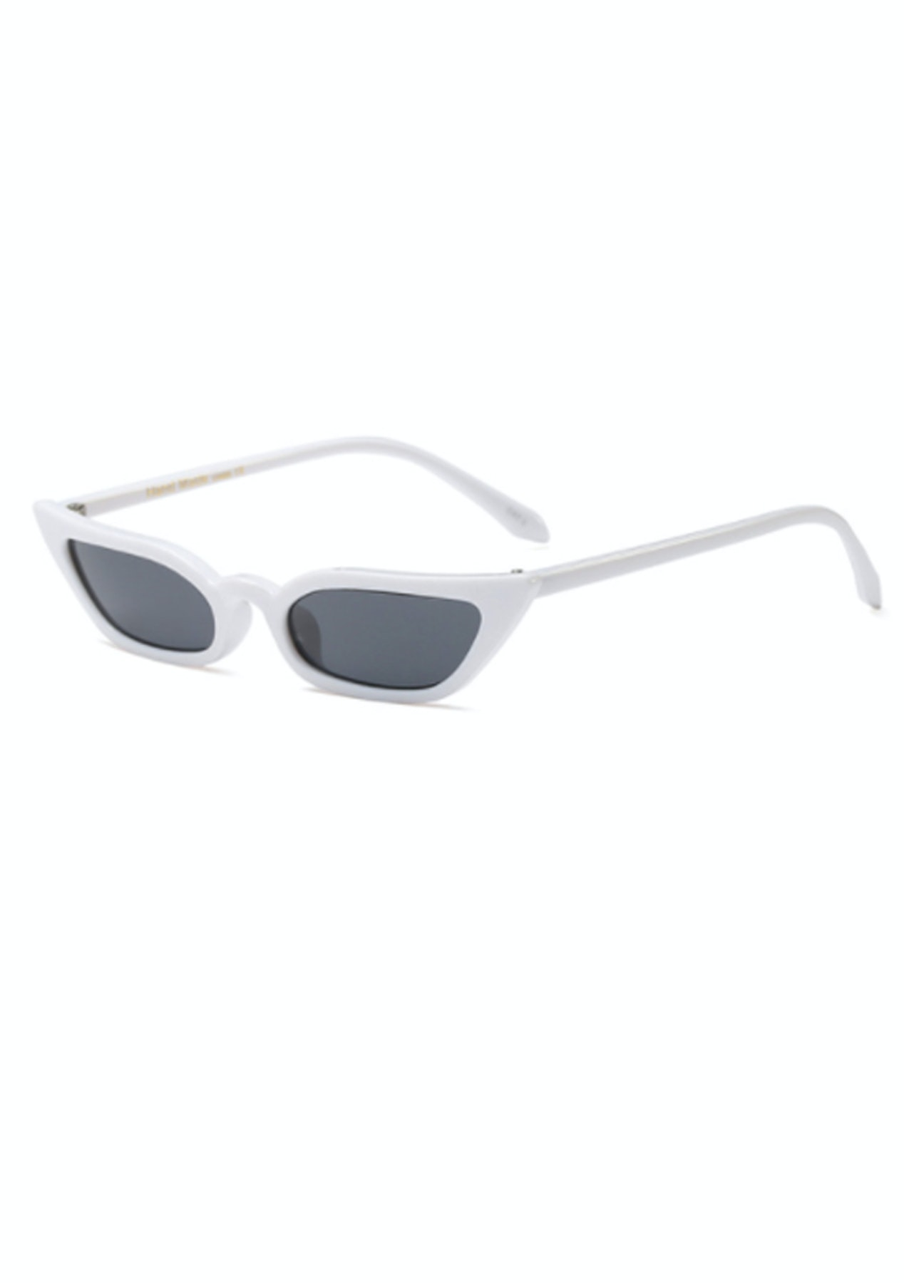 4cdaaad4a3d Slim Cat Eye Sunglasses - White - Eyewear Clear Out - Onceit