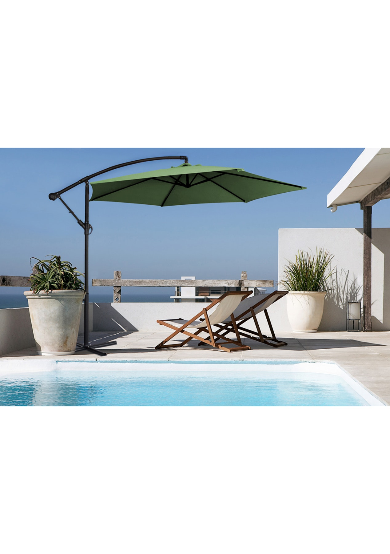 34969a7835 Milano Outdoor - Outdoor 3 Meter Hanging and Folding Umbrella - Green