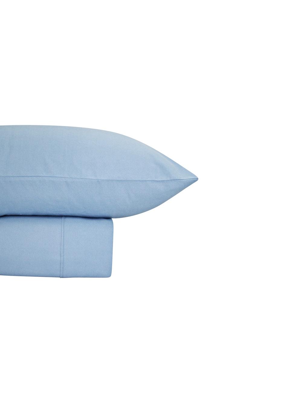 Thermal Flannel Sheet Sets - Bay Blue - King Single Bed