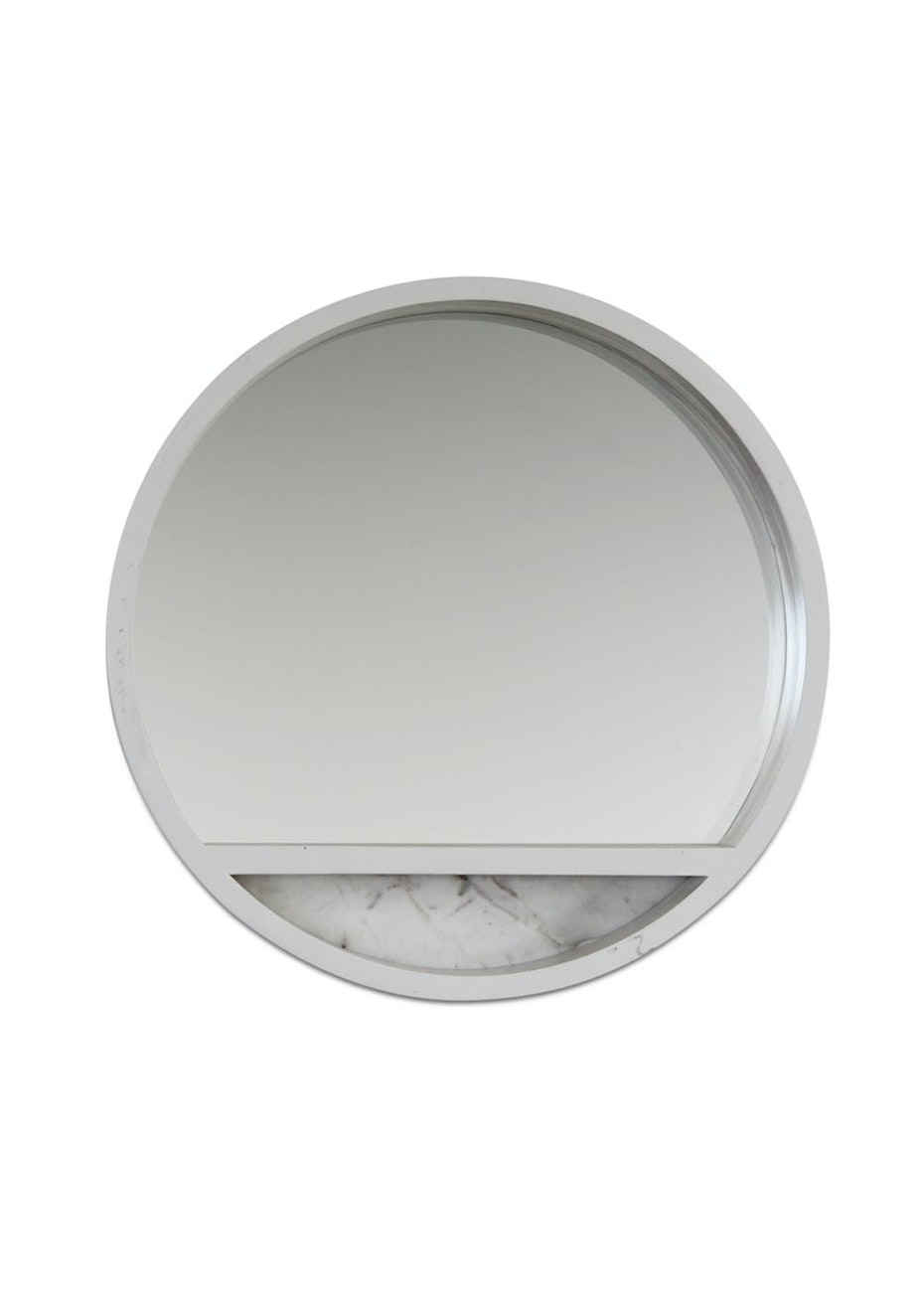Me & My Trend - White Marble Panel Mirror