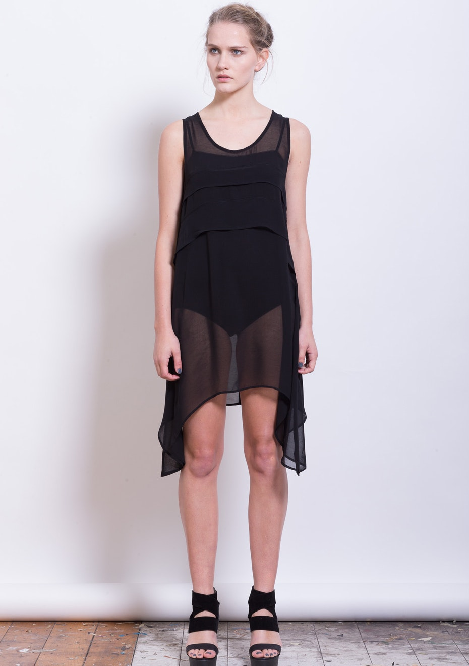 X-Plain - Surrealism Dress top - Black