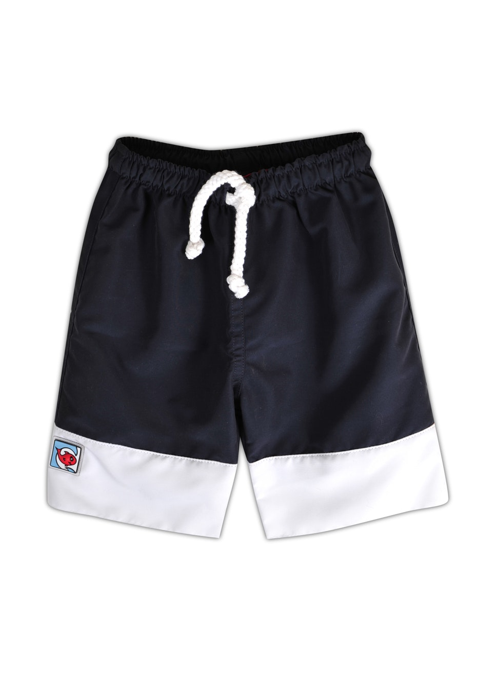 Little Red Fish - Boardshorts with White Band - Navy Seal