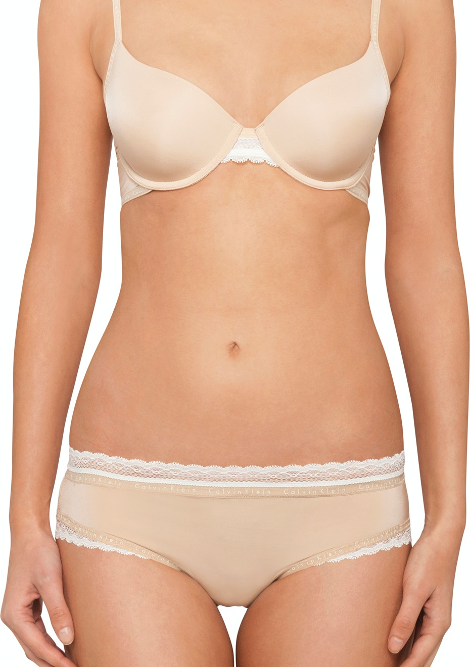 Calvin Klein - Signature, Demi Lightly Lined Tshirt Bra - Bare