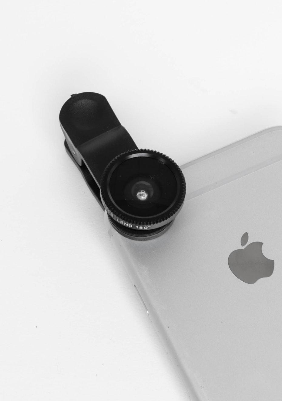 Fish-Eye Phone Lens - Black