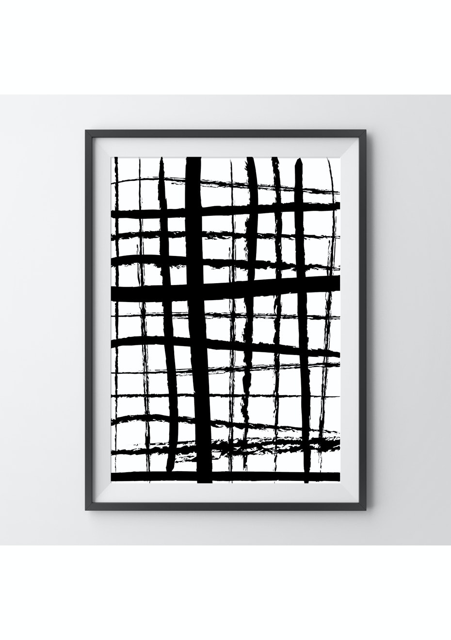 Simply Creative - Criss Cross - A4 Monochrome Print