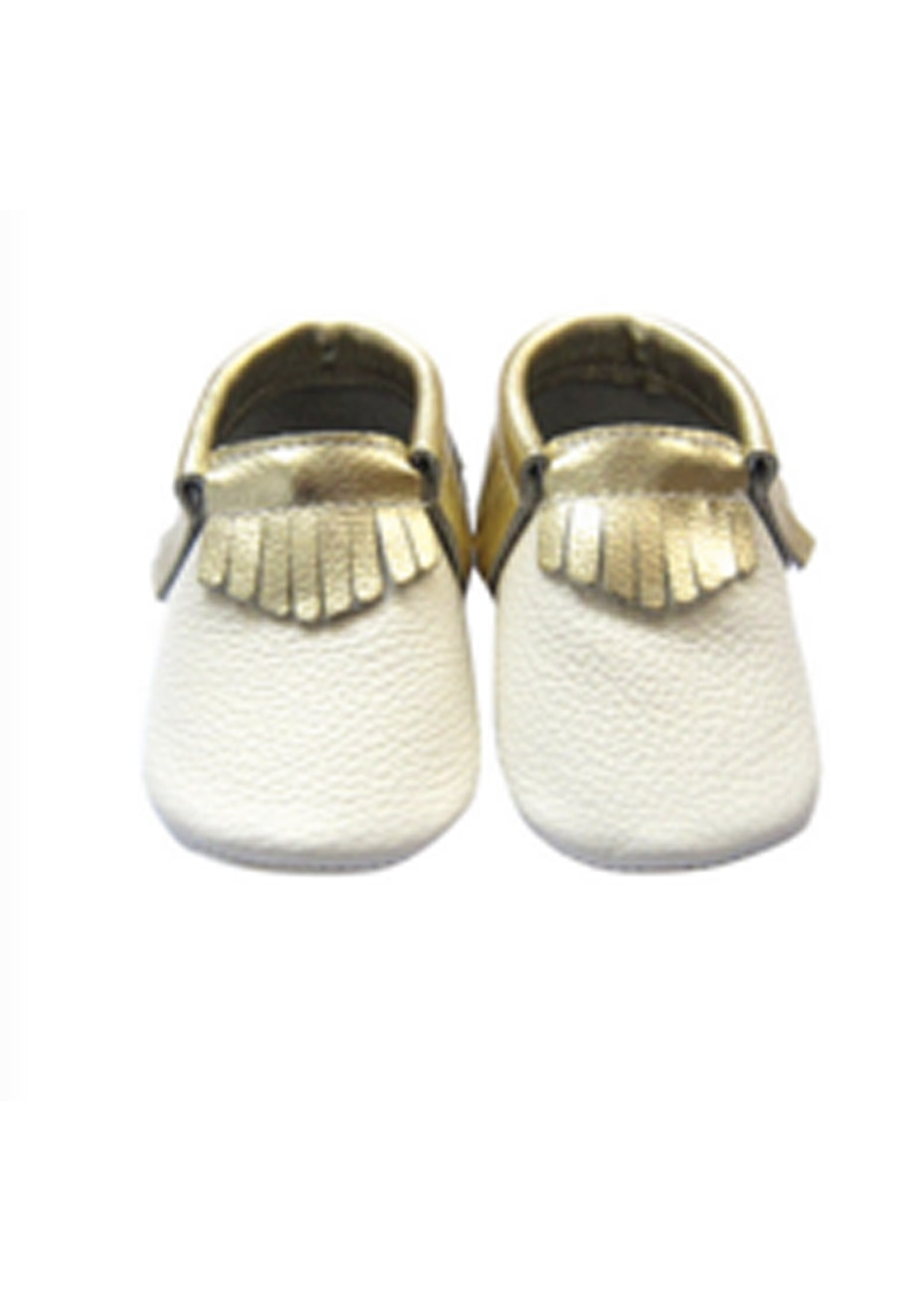 Baby  Leather Shoes - White/Gold