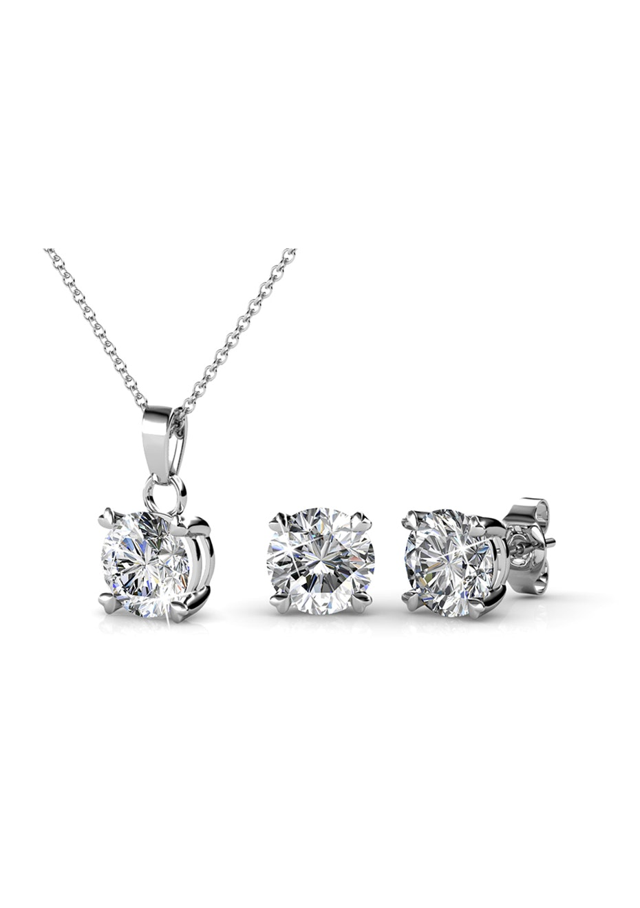 Matching Classic Elegance Set Embellished with Crystals from Swarovski