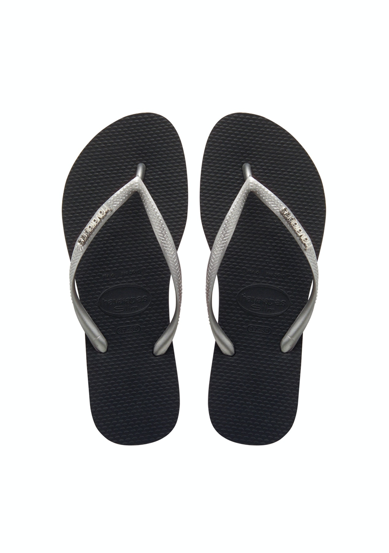 b5d647783430b Havaianas - Slim Metal Logo 3761 - Black   Silver   Silver - NEW Havaianas  - up to 60% off - Onceit