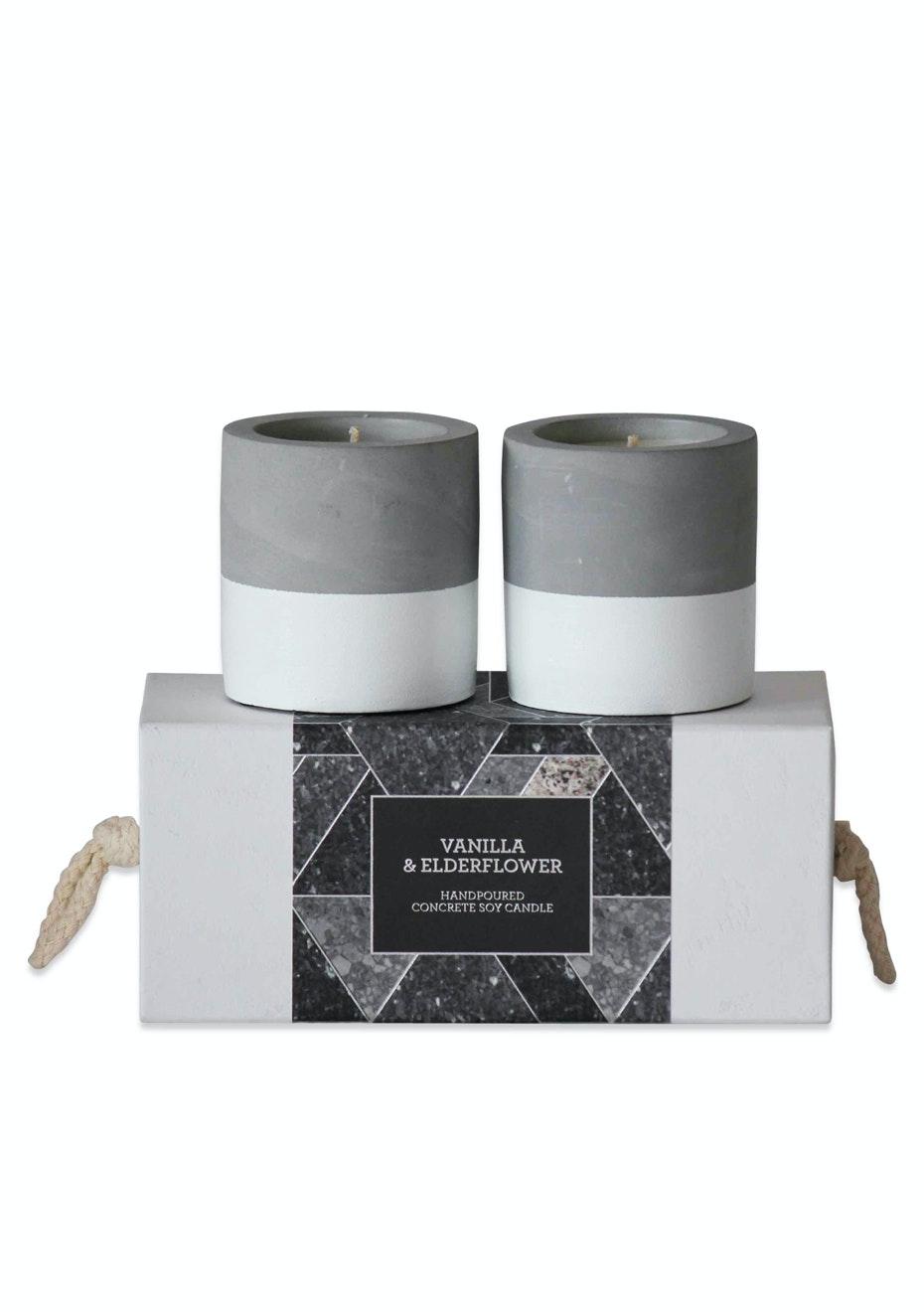 Me & My Trend - Set of 2 Concrete Vanilla & Elderflower