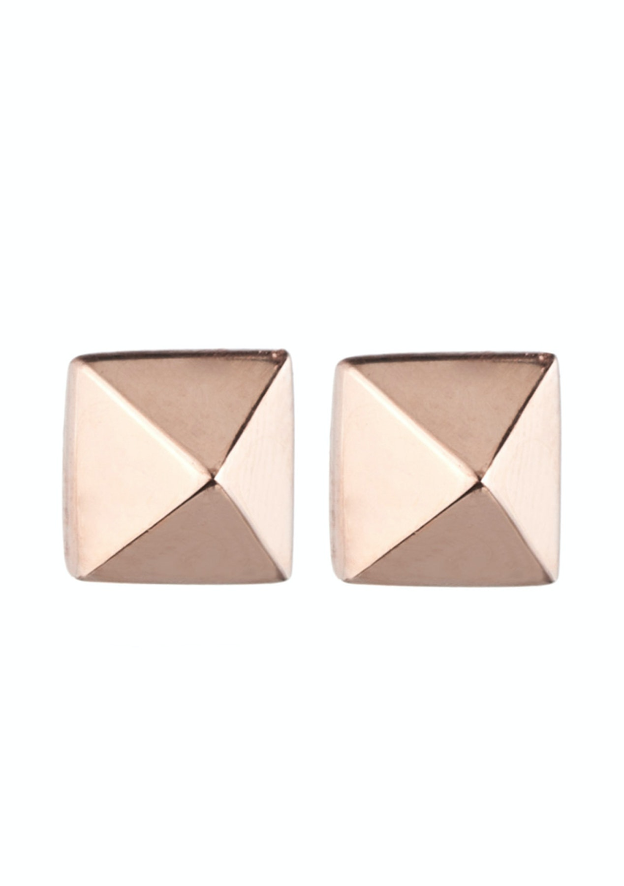 d8afc1b97f2 Eddie Borgo - Pyramid Stud Earrings - Rose Gold - Free Shipping Jewellery &  Sunglasses - Onceit