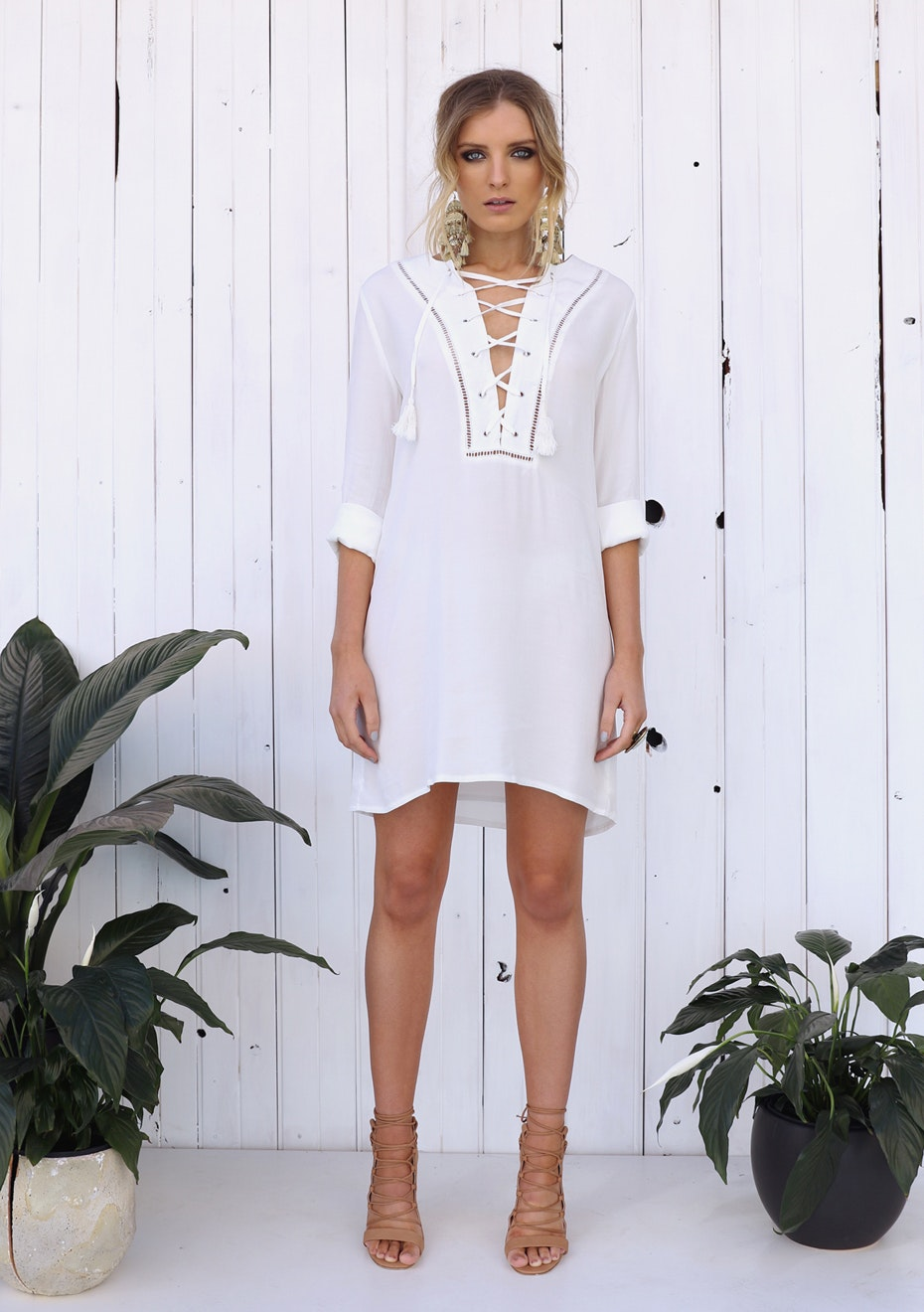 Madison - HARVEST TUNIC - WHITE