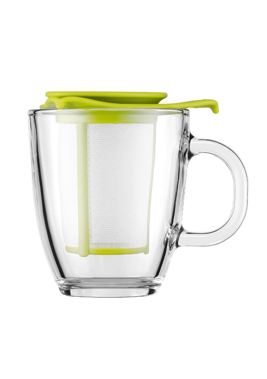 Bodum - Mug And Tea Strainer, 0.35L - Lime