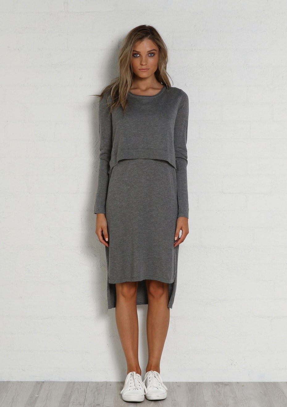 Madison - HANA DRESS - CHARCOAL