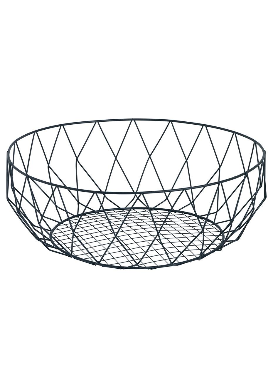 Jason - Metal Fruit Basket - Black