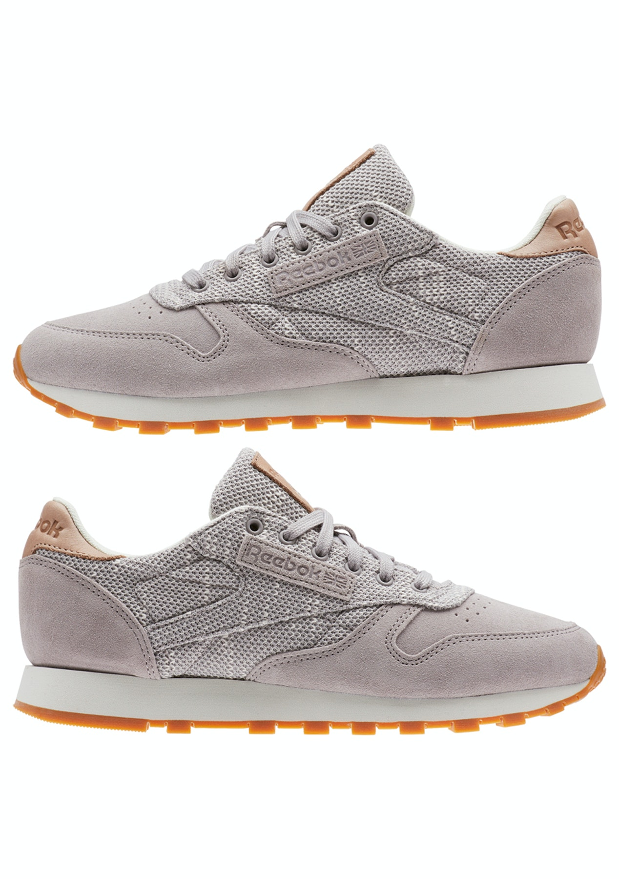 0c4240f68e288d Reebok Womens - Cl Leather Ebk - Grey Chalk Lilac Ash - Reebok Encore -  Onceit