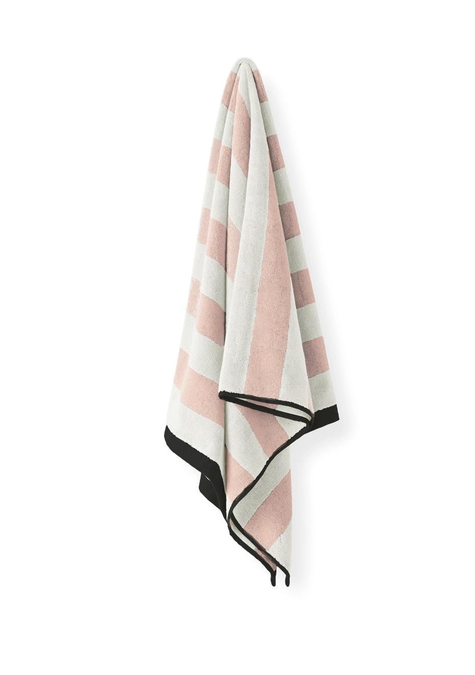 Aura Stripes Bath Sheet 900 X 1650Mm Pink