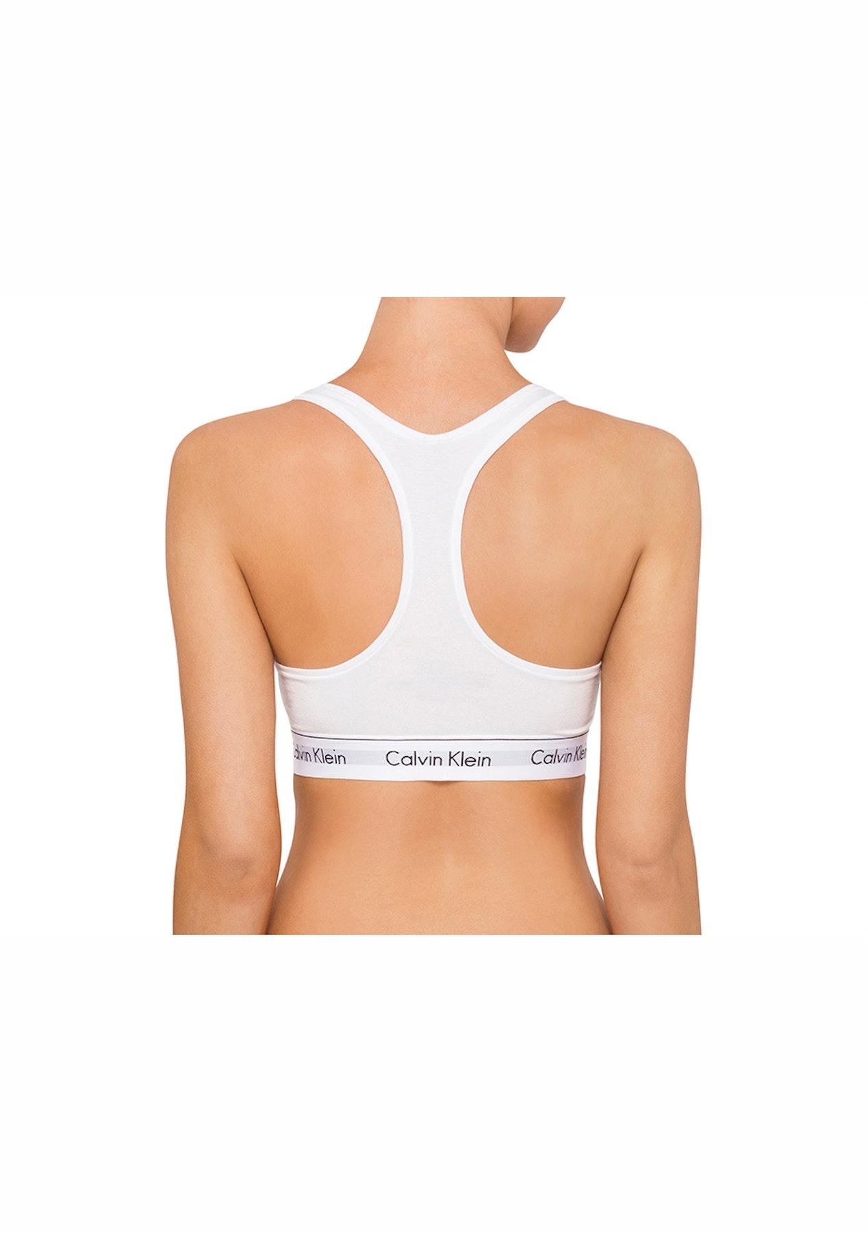 15b909f171 Calvin Klein - Modern Cotton Bralette   Bikini Set - White - CK MODERN  COTTON Sets! - Onceit