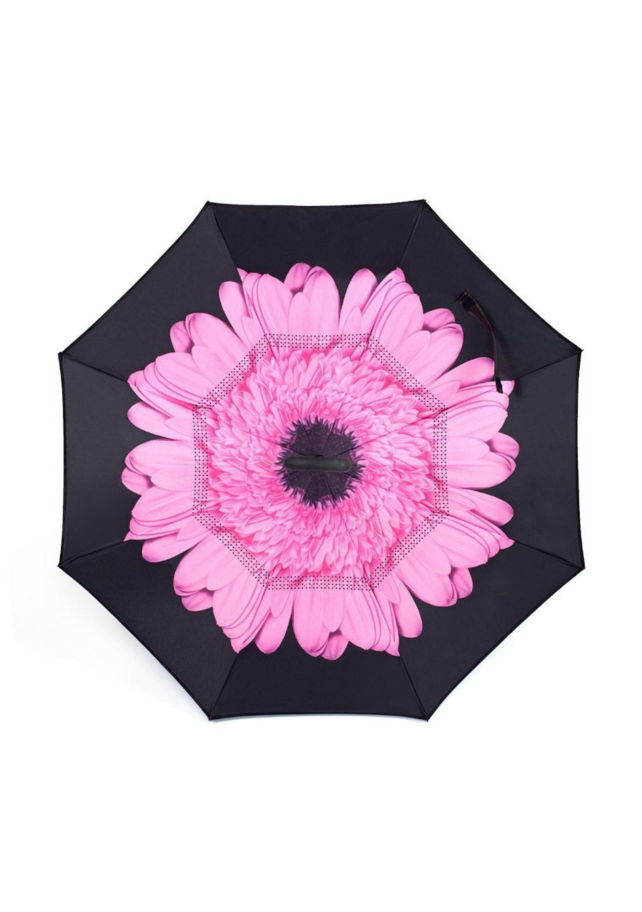 Inverted umbrella pink flower stuff for a rainy day umbrellas inverted umbrella pink flower mightylinksfo Images