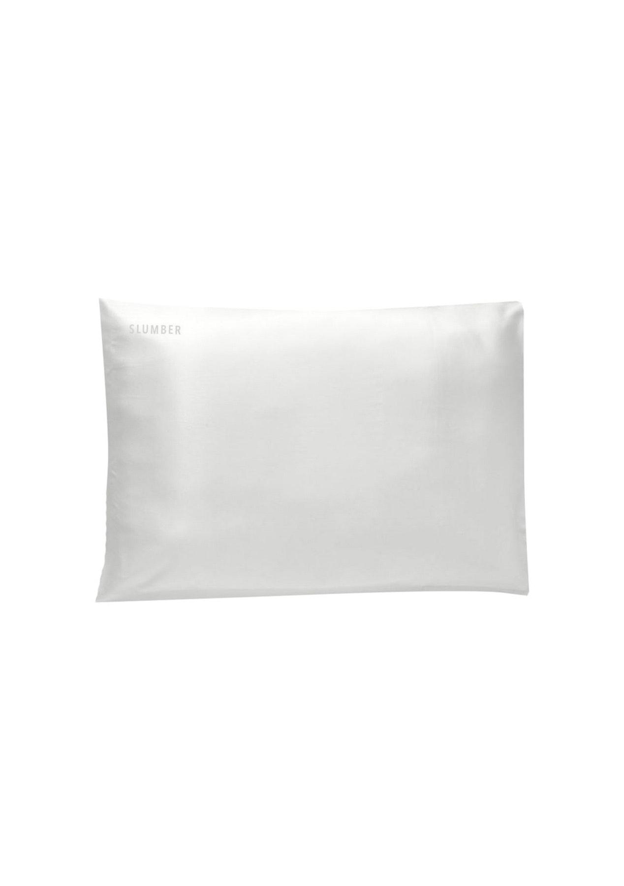 SLUMBER 100%  SILK PILLOWCASE - TWO PACK - Off White