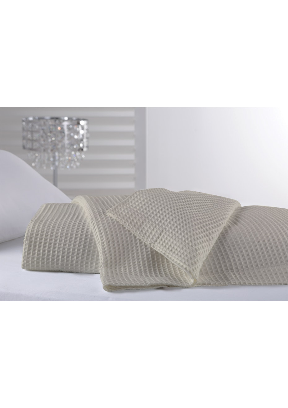 Regatta Cotton Blanket - Oyster - Queen Bed