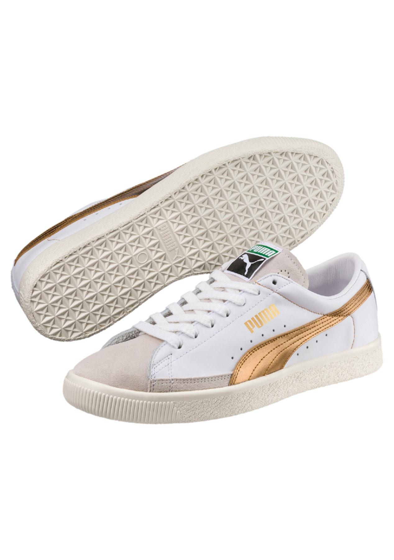 buy popular 937e1 0c982 Puma - Basket 90680 G White-Team Gold - Mens