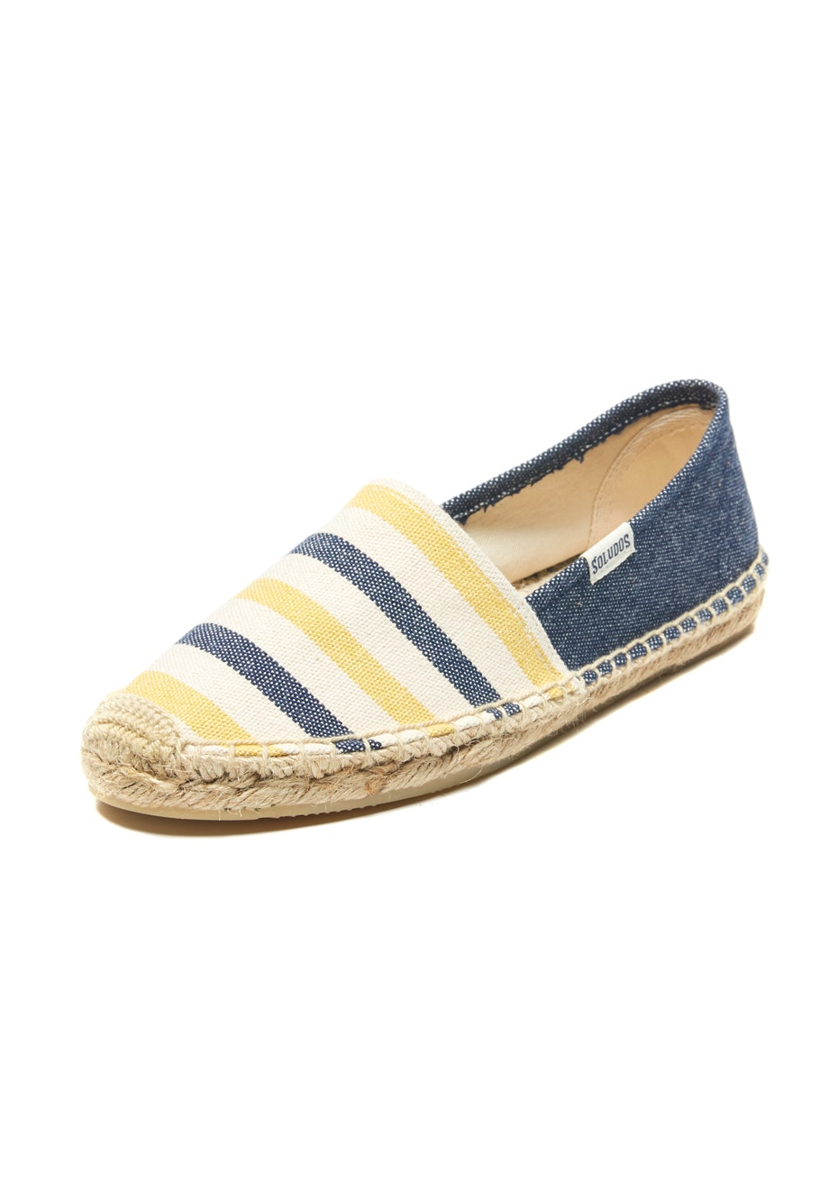 Soludos - Original Dali Striped - Navy/Yellow