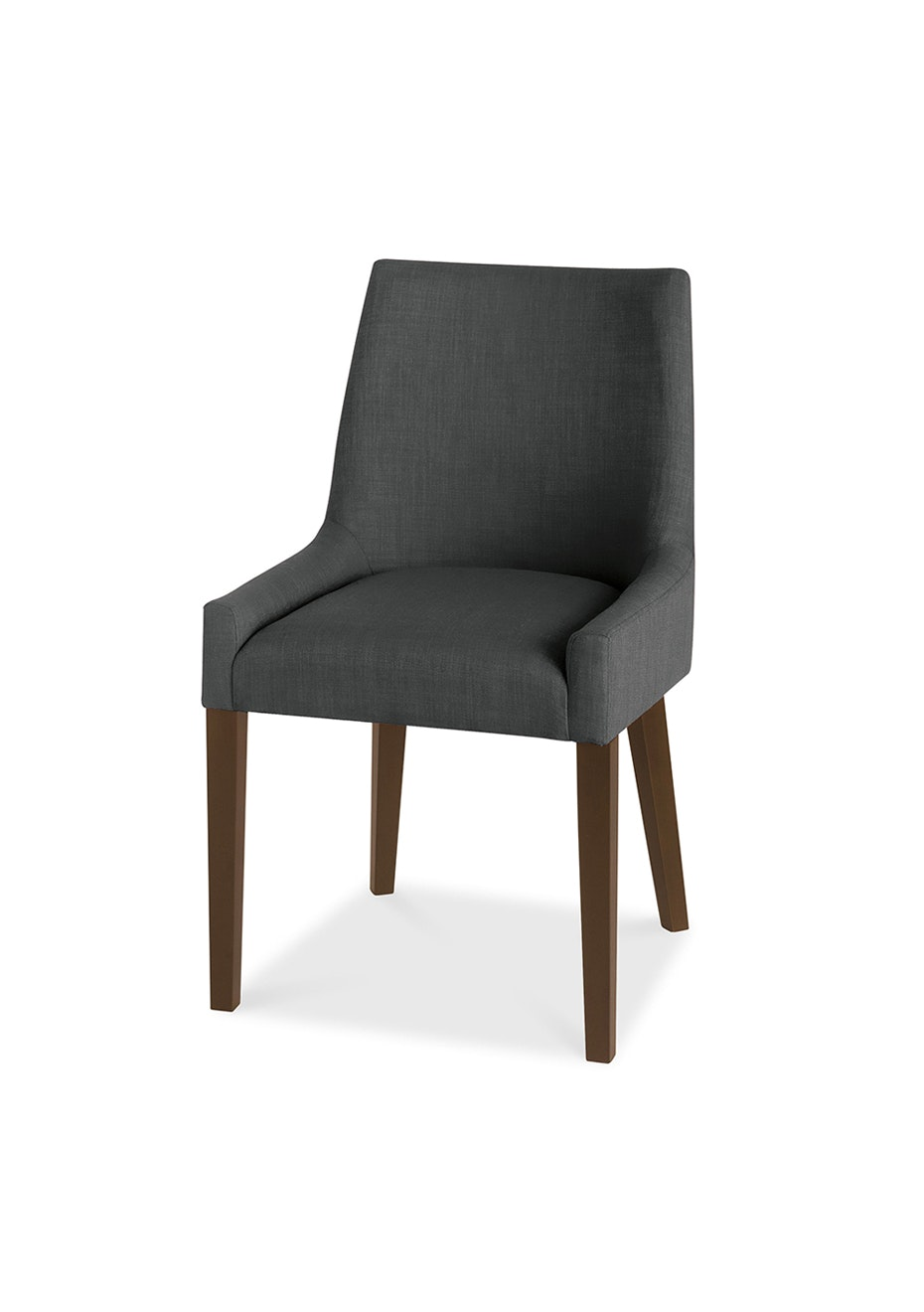 Furniture By Design - Ella Scoop Back Chair- Walnut and Charcoal