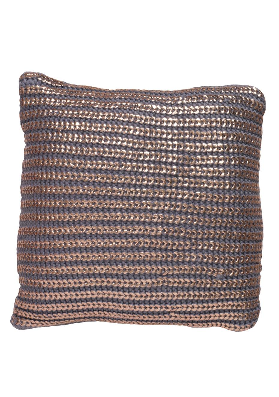 Jason - Copper knit cushion