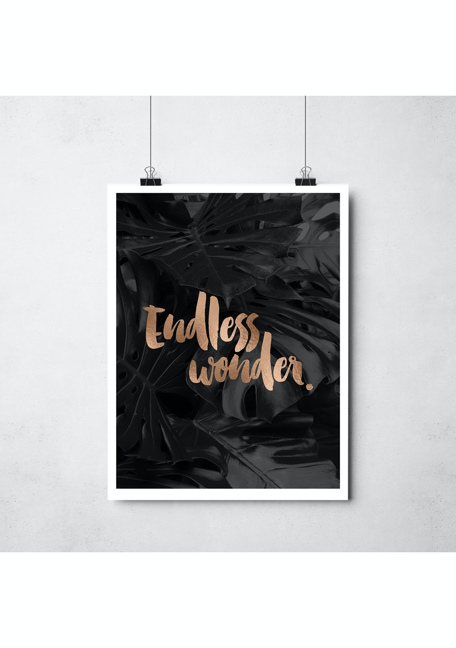 Simply Creative - Endless Wonder - A3 Copper Foil Print