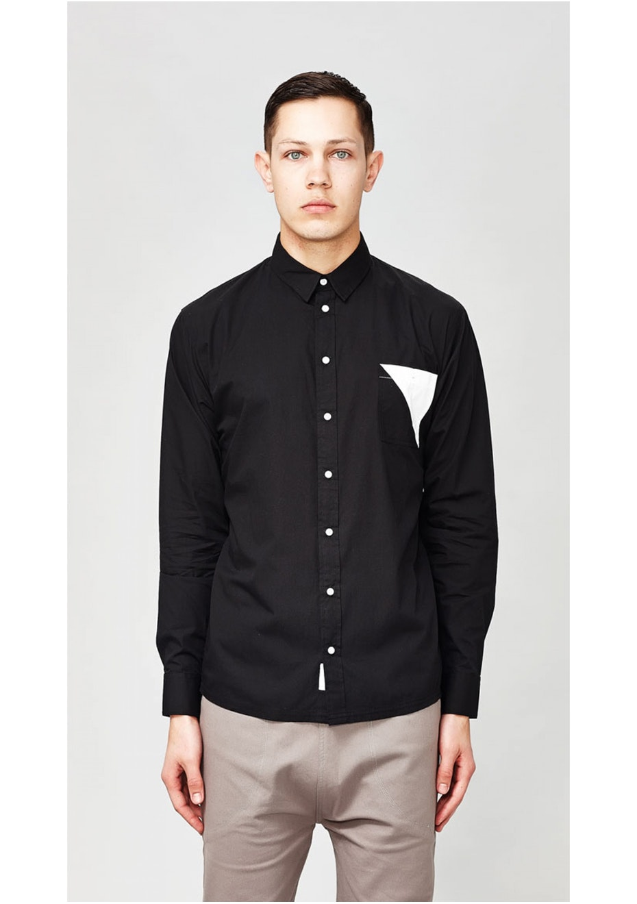 I Love Ugly - Split Long Sleeve Shirt Black