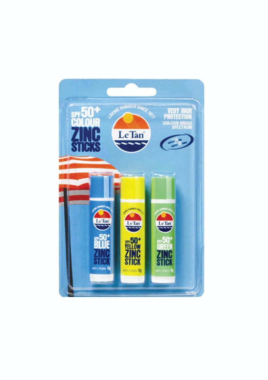 Le Tan Color Zinc SPF50+ 3 pack