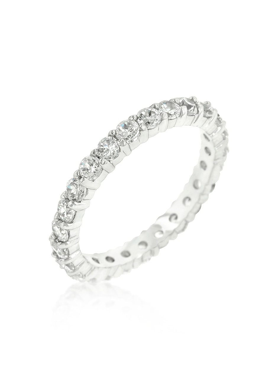Enternity Ring in White Gold