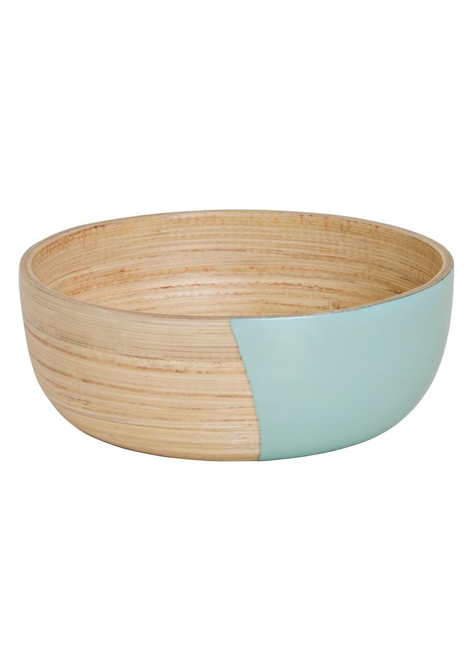 Wooden Bowls - Mint/Wood