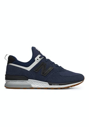 9b4d651707958 New Balance Mens - 574 Sport - Navy with Black