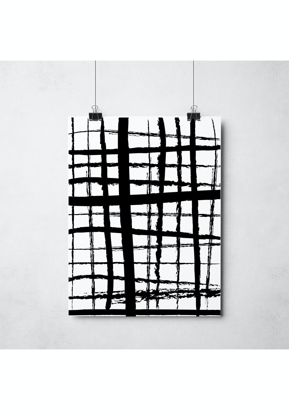 Simply Creative - Criss Cross - A3 Monochrome Print