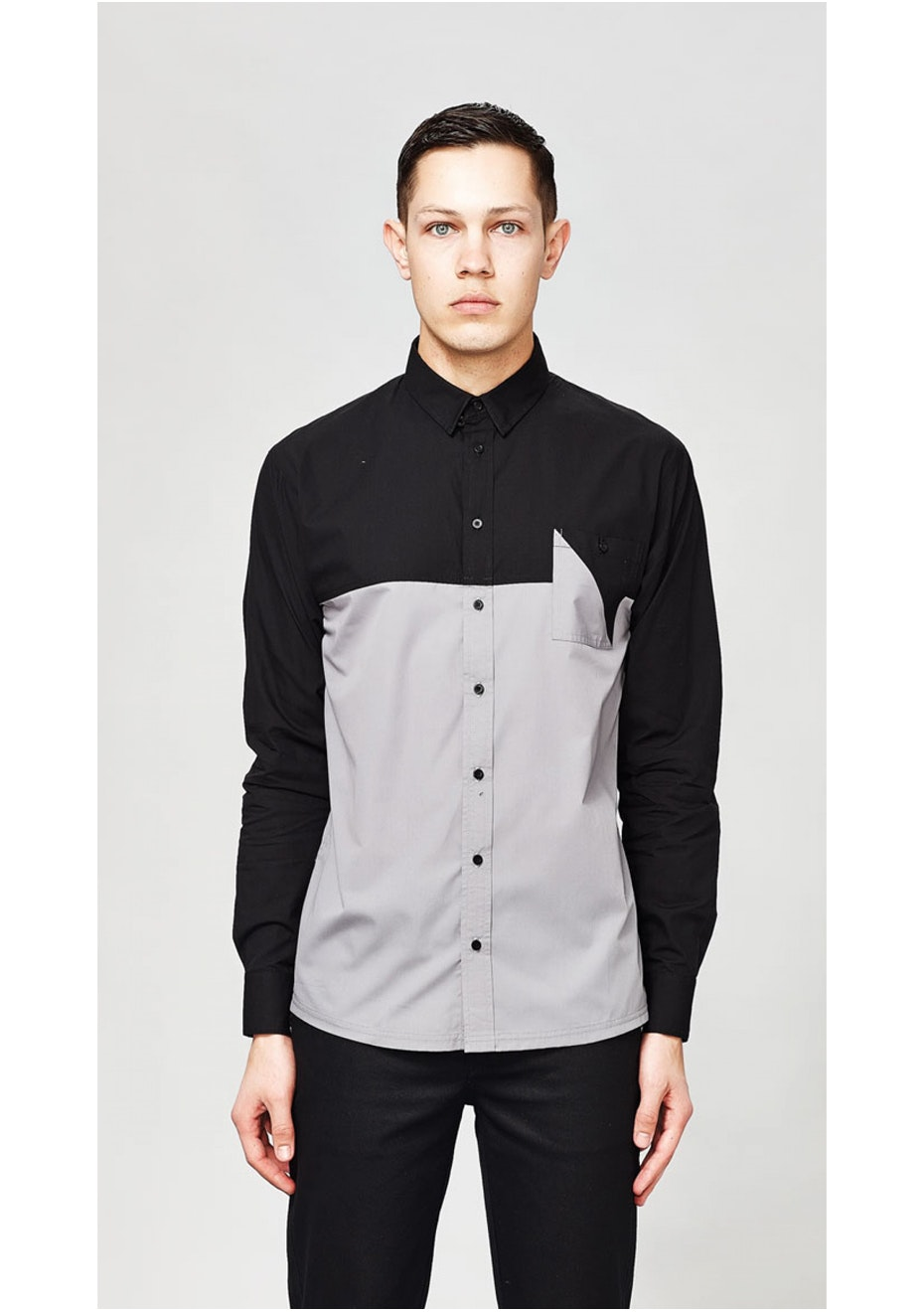 I Love Ugly - Split Long Sleeve Shirt Black/Grey