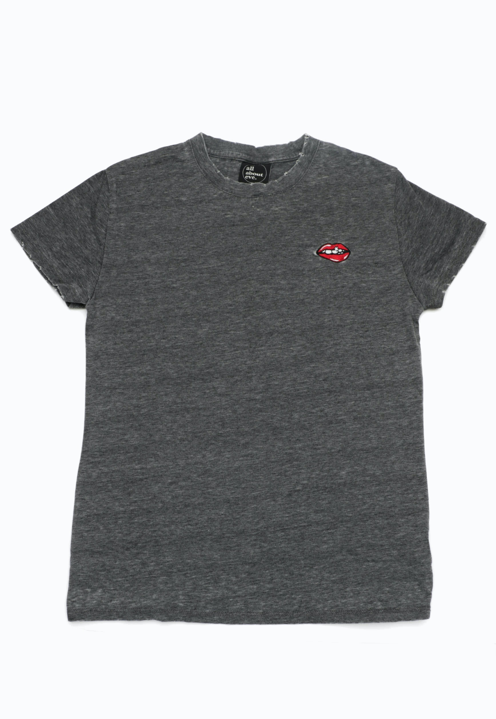 All About Eve - Cherry Tee - Grey Marl