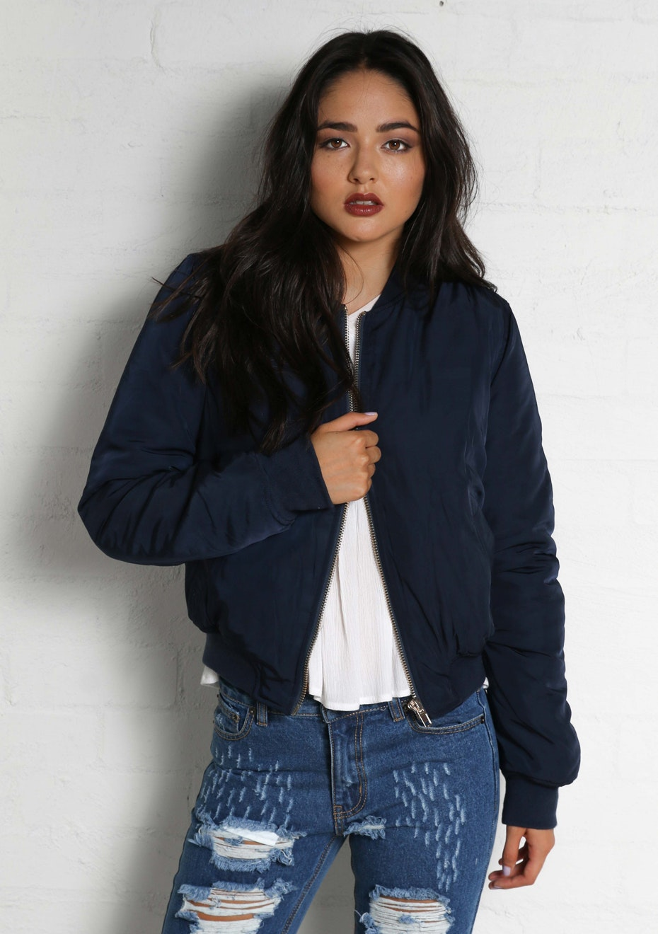 Madison - BOMBER JACKET - NAVY