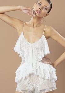 e69871f500a Winona - Willow Playsuit - White Lace
